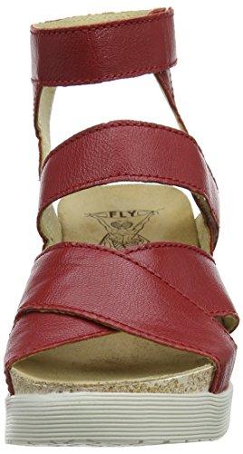 FLY London Damen Wege669fly Knöchelriemchen Sandalen Rot (Lipstick Red)