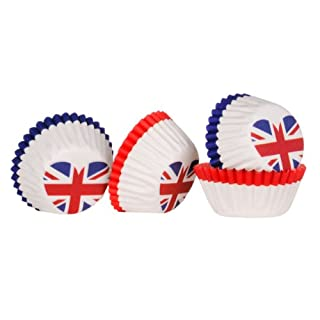 Ingraissable 100pc Mini Cupcake Cases Made Of Greaseproof Paper & I Love UK Design