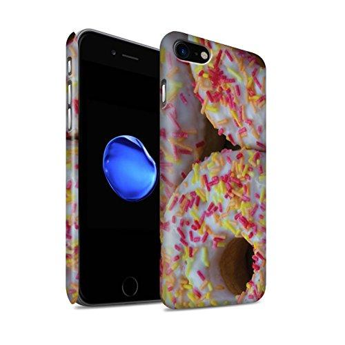 STUFF4 Matte Snap-On Hülle / Case für Apple iPhone 8 / Tower/Erdbeere Muster / Schmackhafte Donuts Kollektion Weiß Glasiert