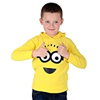 Kids Official Fleece Hoody Yellow Minions Despicable Me Jumper Hoodie 2-3 Years