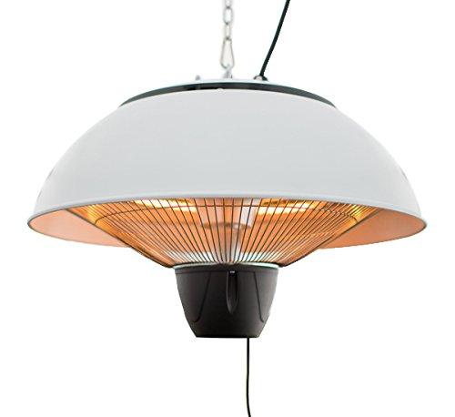 Firefly 1500 Watt Infrarot Heizstrahler, Terrassenheizung, Halogen-Heizstrahler, Deckenmontage, Weiß