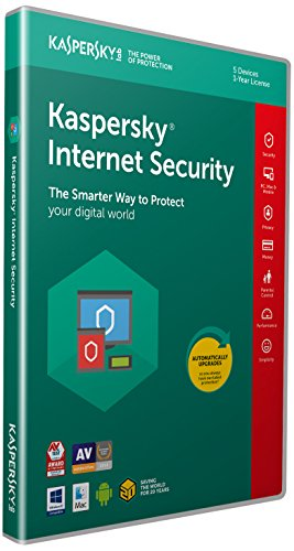 Kaspersky Internet Security 2018 | 5 Devices | 1 Year | PC/Mac/Android | Download