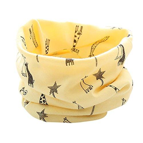 ESAILQ Neue Herbst Winter Jungen Mädchen Baby Cute Giraffe Schal Baumwolle O Ring (Ideen Für 1 Jahr Alt Halloween Kostüme)