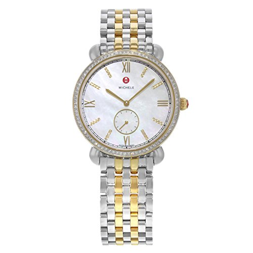 Michele Gracile MOP Steel 0.40cttw 114 Diamonds Quartz Ladies Watch MWW26A000003