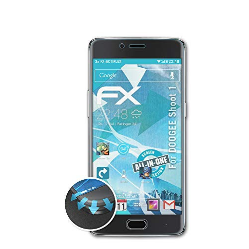 atFolix Schutzfolie passend für DOOGEE Shoot 1 Folie, ultraklare & Flexible FX Bildschirmschutzfolie (3X)