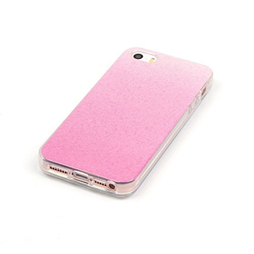 Wkae Case Cover iphone 5 5S cas, motif coloré TPU caoutchouc mou cas de couverture de peau de silicone pour iPhone 5 5S by DIEBELLEU ( Color : D , Size : Iphone5 5S ) A