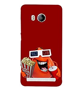 Orange Cartoon Hard Polycarbonate Designer Back Case Cover for Vivo Xshot :: Vivo X Shot