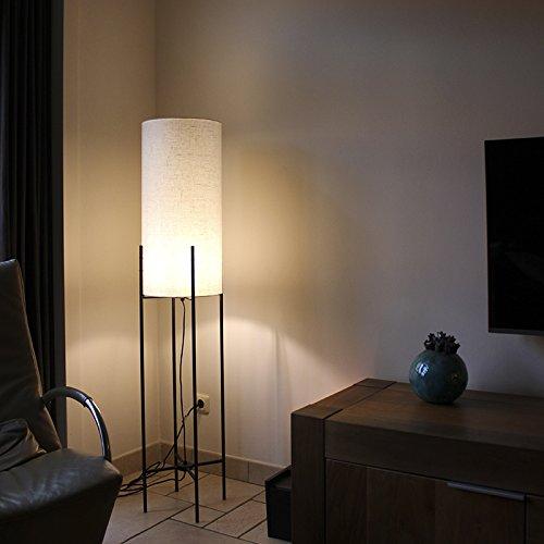 QAZQA Modern Stehleuchte / Stehlampe / Standleuchte / Lampe / Leuchte Rich weiß / ...