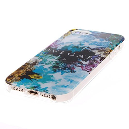 MOONCASE iPhone 5 5S Case Coque Housse Silicone Etui Case Soft Gel TPU Cover pour iPhone 5 5S -TX07 ST16