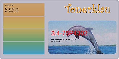 Ibm Toner-refill (kompatibel Toner 3.4-75P4302 für: IBM Infoprint 1372 als Ersatz für IBM 75P4302)