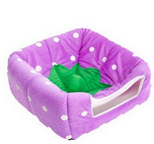 Artikelbild: Smile YKK Erdbeere Muster Design PP Baumwolle katzenhöhle hundehöhle M Violett