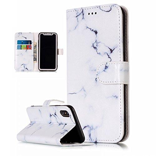 iPhone X Hülle,Vandot 3D Magnetverschluss Schutzhülle Weich PU Leder Flip Tasche Handyhülle Case mit Integrierten Kartensteckplätzen und Ständer für iPhone X (iPhone 10 5,8 Zoll) Innen TPU Silikon Cov Muster 6