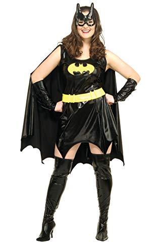 Erwachsene Batgirl Plus Für Kostüm - Batgirl Kostüm für Damen Gr. XL, Größe:XL
