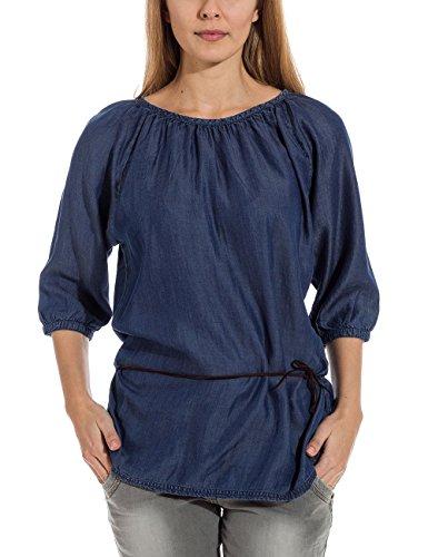 Timezone Denim - Blouse - Coupe Droite - Manches Courtes - Femme Bleu (Uniform Blue 3534)