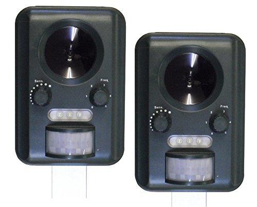 selections-gfa805-juego-de-2-repelentes-por-ultrasonidos-para-gatos-funcionan-con-luz-solar-bateras-