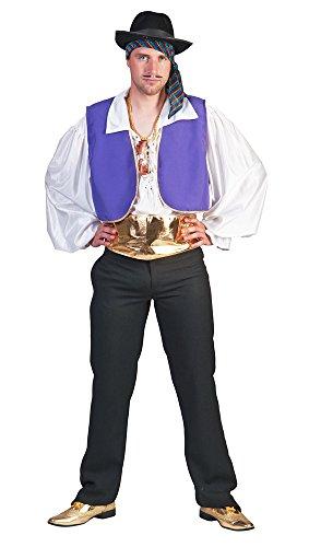 Zigeuner König Sophus Kostüm Gr. 56 58 - Auffälliges Orient Basar Faschingskostüm für Herren (Herren Zigeuner Kostüm)