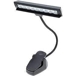 Lixada 9 LEDs liseuse LED Lampe de lecture Lampe clipable de bureau pour Pupitre Partition Piano