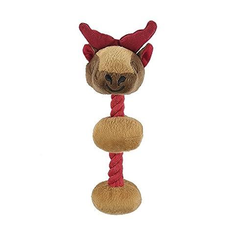 Pro goleem Langlebig Quietschen Hundespielzeug, ungefüllt Robuste Weich Plüsch Kauspielzeug mit Körper Spielzeug für Haustiere