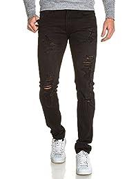 BLZ jeans - Jean homme noir slim troué