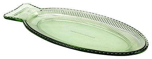 Plat poisson plate - vert transparent - 35 x 16 cm