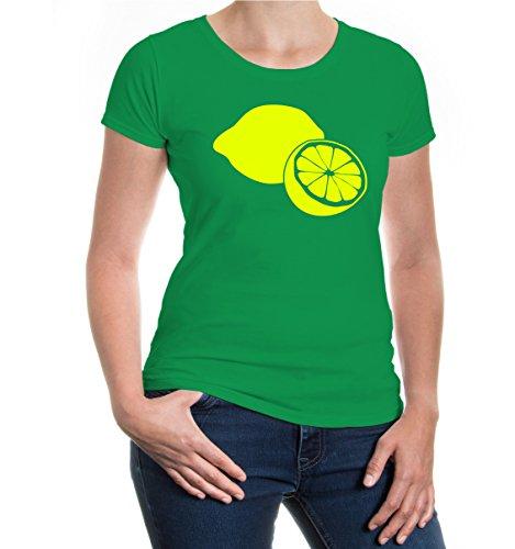 buXsbaum® Girlie T-Shirt Zitrone Kellygreen-Neonyellow