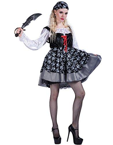 id Piratenkostüm für Erwachsene Damen Piratin Seeräuber Outfit (Piraten Outfits Für Erwachsene)