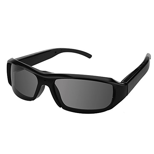 Flylinktech®HD 1080P 30fps Brille Kamera Spy Versteckte Kamera Sonnenbrillen mit DVR versteckte Brille Kamera (850B Grau)