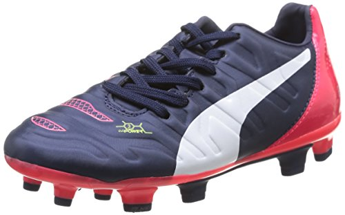 Puma evoPOWER 3.2 FG Unisex-Kinder Fußballschuhe Blau (peacoat-white-bright plasma 01)