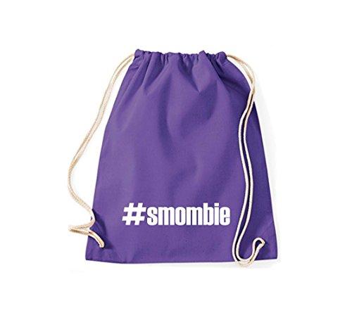 Shirtstown Turnbeutel #smombie hashtag purple