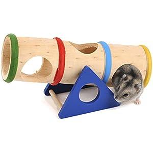 Yunt Hamster Haus Nest Höhle Hütten Kleintierspielzeug aus Holz (A: Höhle)