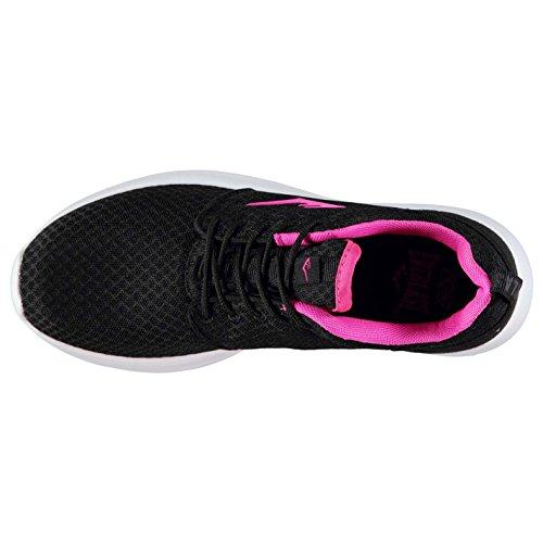 Everlast Kinder Sensei Run Turnschuhe Strick Sneaker Sportschuhe Schuhe Schwarz/Pink
