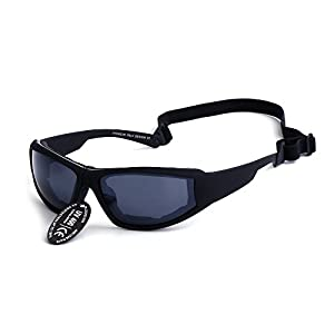 Supertrip Sports Glasses UV400 Protective Motorcycle/Cycling Sunglasses Ski Goggles Color Black