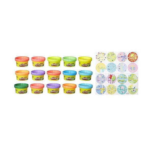 Play-Doh Bustina di Vaso, Multicolore, 15 Vasetti, 18367EU4 3 spesavip