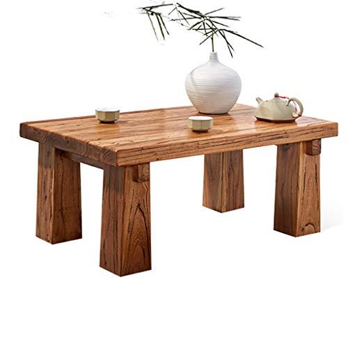 Tavolini vecchio tavolo da olmo tavolo da tè in legno tatami tavolo da tè tavolo da tè durevole (color : brown, size : 55 * 35 * 30cm)