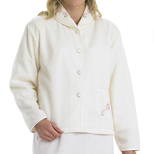 Slenderella Polar Fleece Buttoned Bedjacket - 412TzfBJPoL - Slenderella Polar Fleece Buttoned Bedjacket