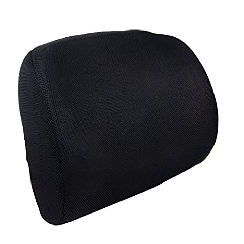 Memory Foam Back Support Cushion for Lumbar Support Breathable Mesh Fabric Cover, Orthopedic Ergonomic for Chairs at Home Work or Traveling