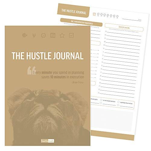 """Produktivitätsplaner """"the Hustle Journal"""" Din A4 das Original - Tagesplaner Block Motivationsjournal Produktivität Undatiert - Perfekt für 2019 und 2020"""
