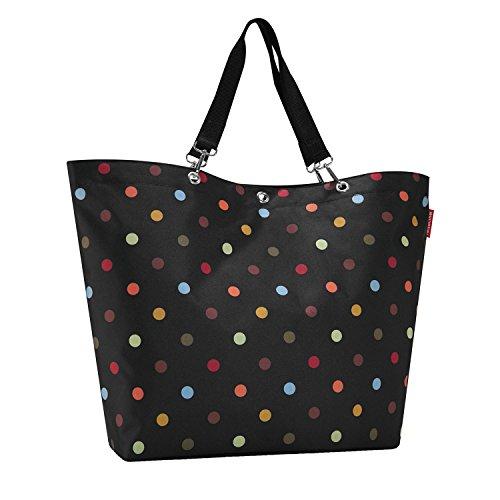 Reisenthel Shopper XL dots - Schultertasche Umhängetasche Strandtasche schwarz gepunktet
