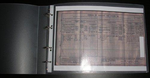 Enigma Zensus-Ordner im Querformat, Polypropylen, A4, 25 Fächer säurefrei 80 Micron