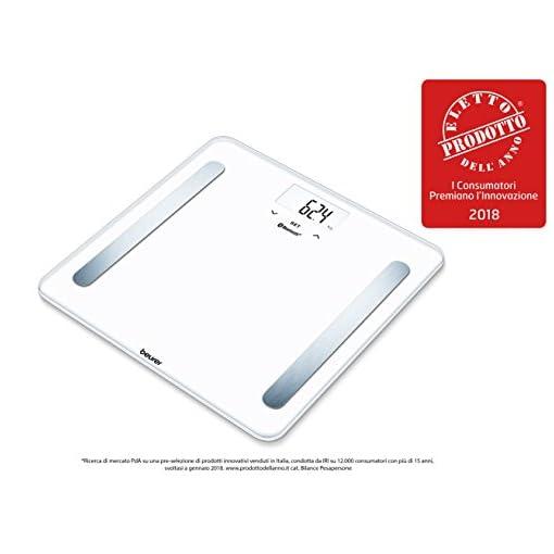 Beurer BF 600 Pure White Bilancia Diagnostica con Connettivita Bluetooth