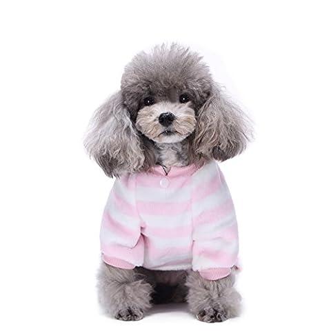 Uni Meilleur Lovely Chien chaud Flanelle Manteau pour chien Vêtements JumpSuit doux douillet pour animal domestique Pyjamas Manteau pour animal domestique