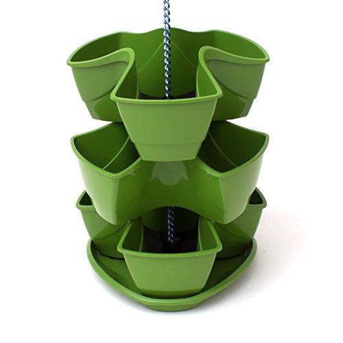 Galleria fotografica Vaso per piante erbe aromatiche COUBI 3 livelli a forma di trifoglio colore: verde