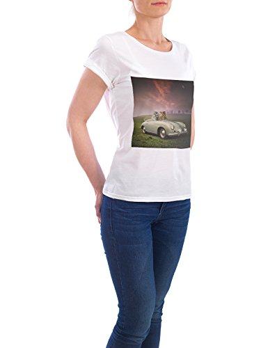 """Design T-Shirt Frauen Earth Positive """"Drivers"""" - stylisches Shirt Tiere Automobile Abstrakt Sport / Motorsport von Surreal World Weiß"""