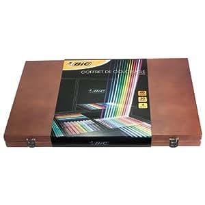 BIC 897735 Coffret de coloriage en bois Edition Limitée