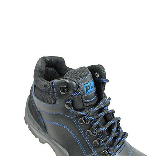 Pka s3 berufsschuhe businessschuhe chaussures de chaussures de sécurité chaussures de travail noir Noir - Noir