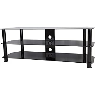 AVF Universal Black Glass and Black Legs TV Stand For up to 60 TVs