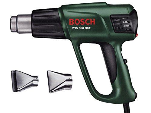 Bosch DIY Heißluftgebläse PHG 630 DCE, Glasschutzdüse, Flächendüse, Kunststoffkoffer (2.000 W, 50-630 °C, Luftstrom 150/300/500 l/min)