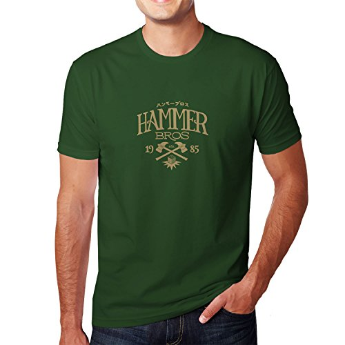 Planet Nerd - Hammer Bros - Herren T-Shirt Flaschengrün
