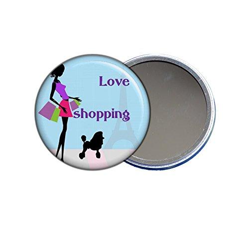 Miroir de poche - Love shopping