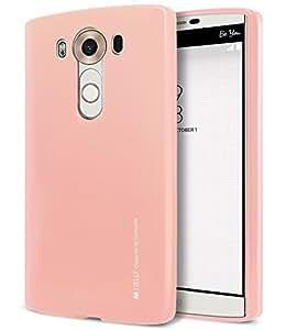 LG V10 Case, [Ultra Slim Fit] Goospery® i-Jelly Case [Metallic Finish] Premium TPU Case Cover [Anti-Yellowing / Discoloring Finish] for LG V10 - Metallic Rose Gold